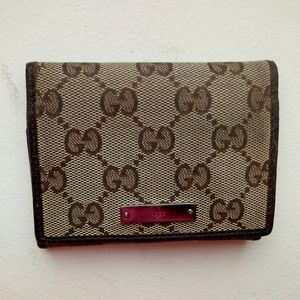💯Auth Gucci brown card case